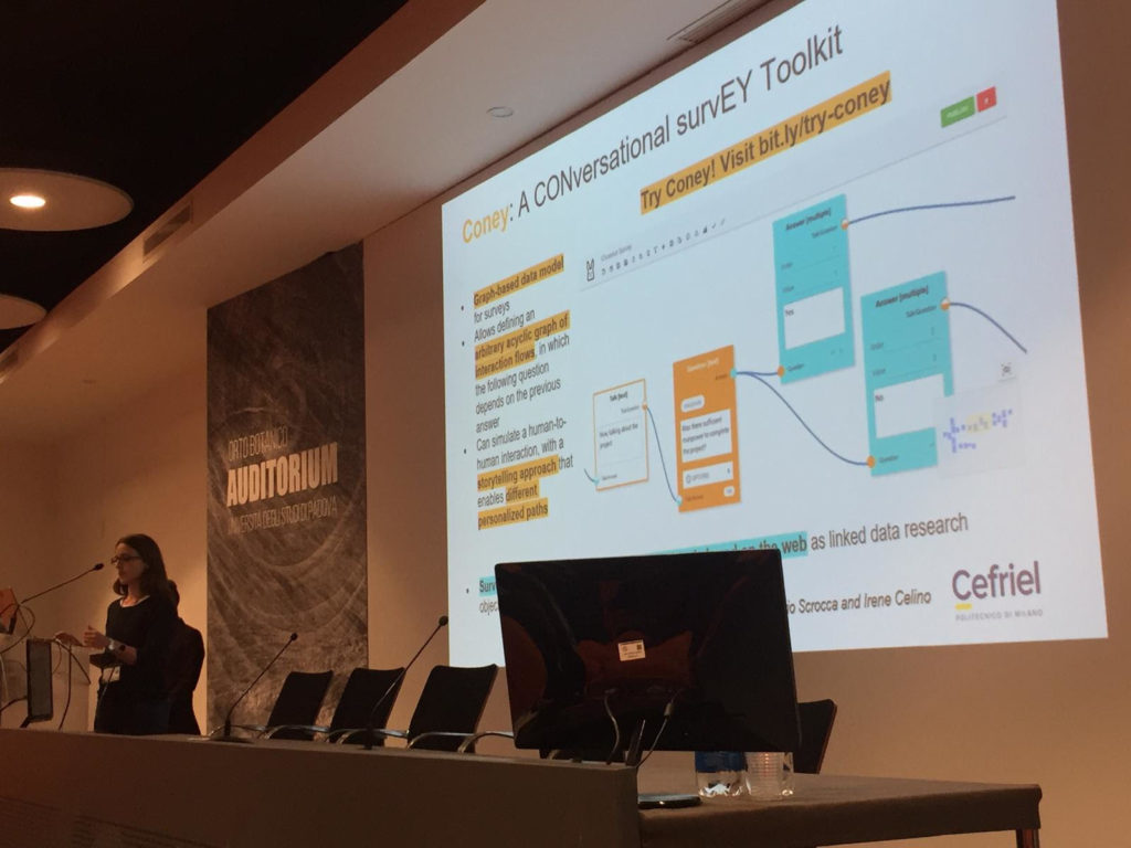 """""""Coney: A CONversational survEY Toolkit """" at the CHItaly Conference 2019"""