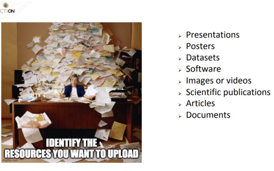 Esteban González explains how to upload resources in the open-access repository Zenodo