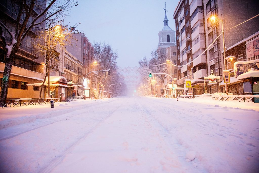 The snowfall that changed the night sky in Madrid