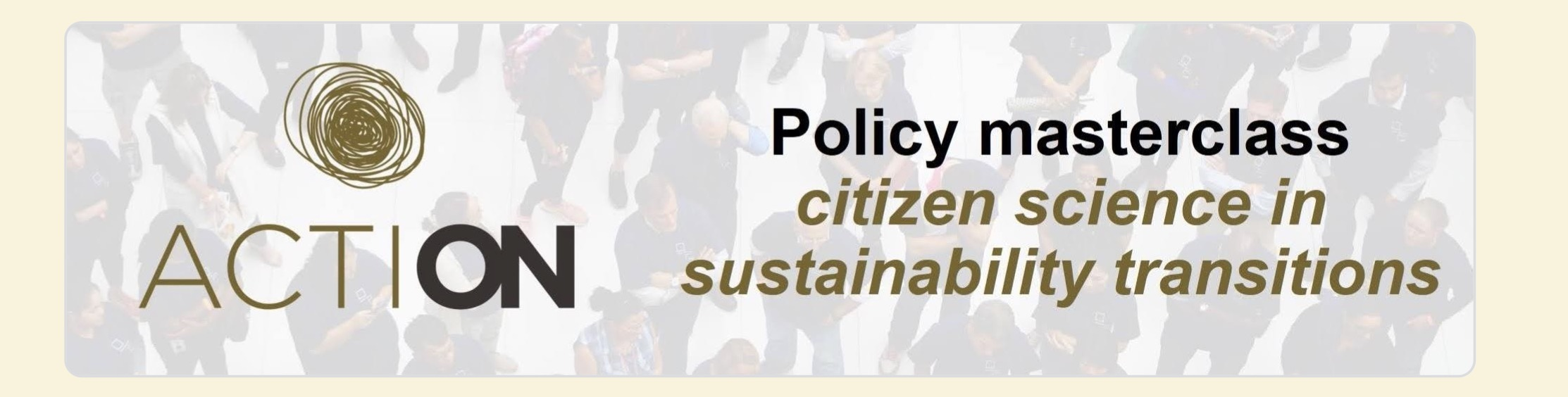 Policy Masterclass – Citizen Science in Sustainability Transitions
