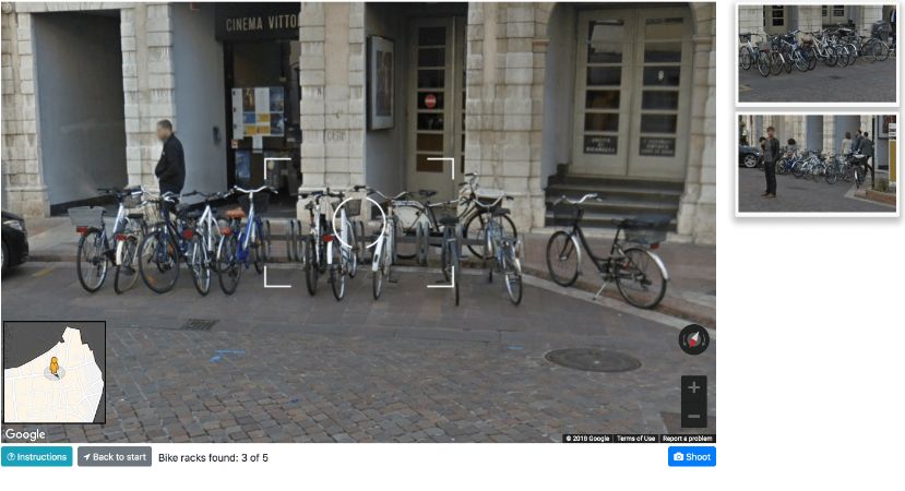 The VCE interface allows participants to explore urban environments physically